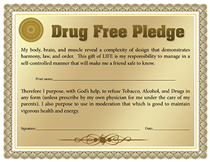 drug free pledge